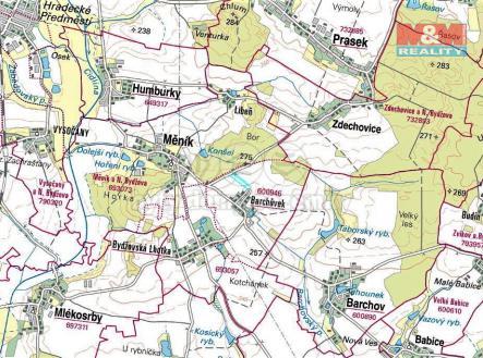 mapka | Prodej - pozemek, zemědělská půda, 4232 m²