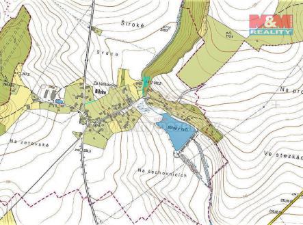 mapka | Prodej - pozemek, les, 1452 m²