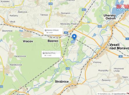 Mapa    Prodej - pozemek, les, 2924 m²