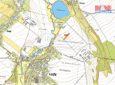 mapka | Prodej - pozemek, zemědělská půda, 916 m²