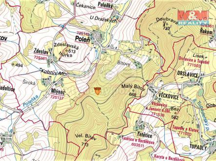 mapka | Prodej - pozemek, trvalý travní porost, 16367 m²