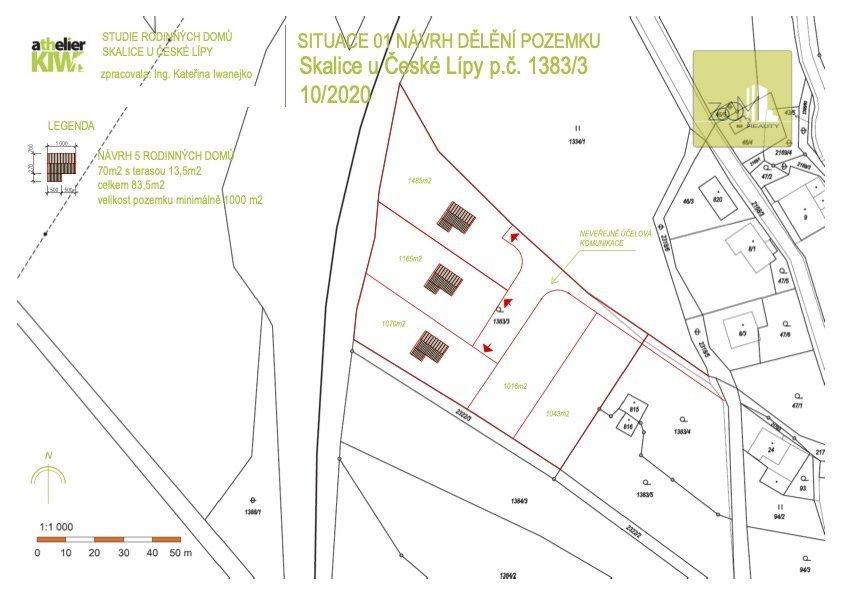 Stavební pozemek se základovou deskou pro výstavbu RD - vč. PD a inženýrských sítí