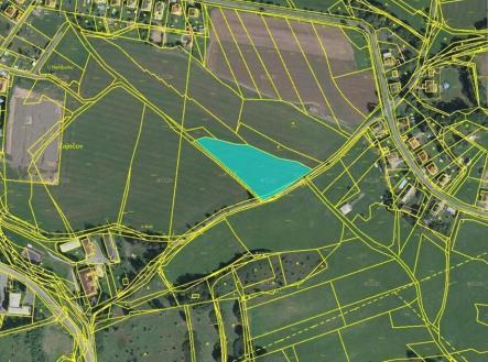 Pronájem - pozemek, zemědělská půda, 889 m²