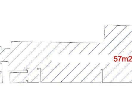 Pronájem - obchodní prostor, 57 m²