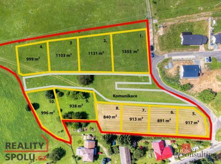 Prodej - pozemek pro bydlení, 931 m²