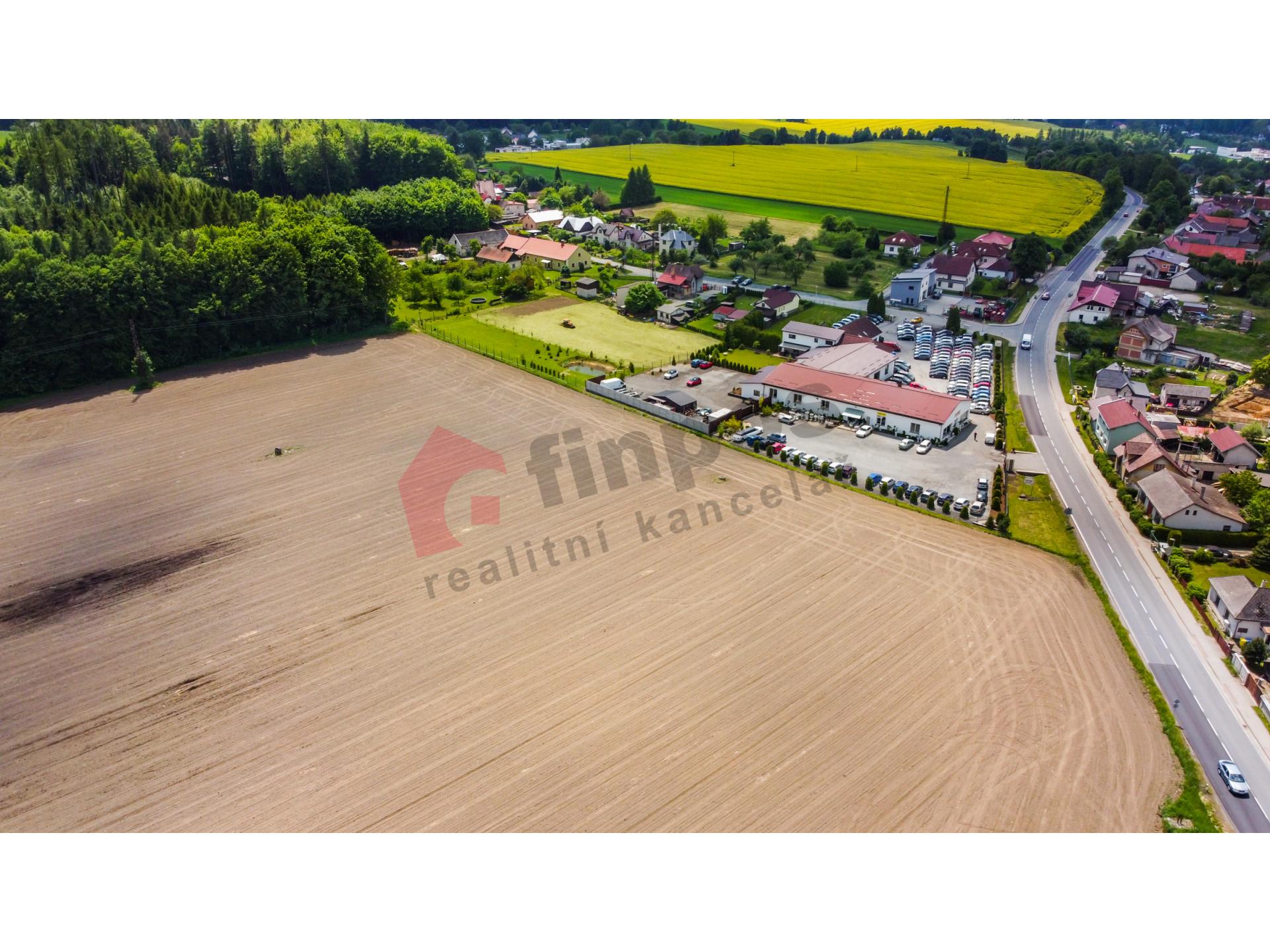 Rozkoš u Humpolce stavební pozemky 11372 m2